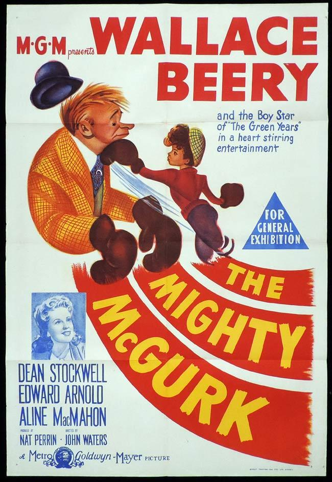 THE MIGHTY MCGURK Original One sheet Movie Poster Wallace Beery Dorothy Patrick Boxing