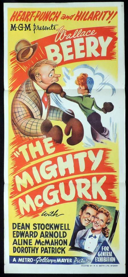 THE MIGHTY McGURK Original Daybill Movie Poster Wallace Beery Boxing