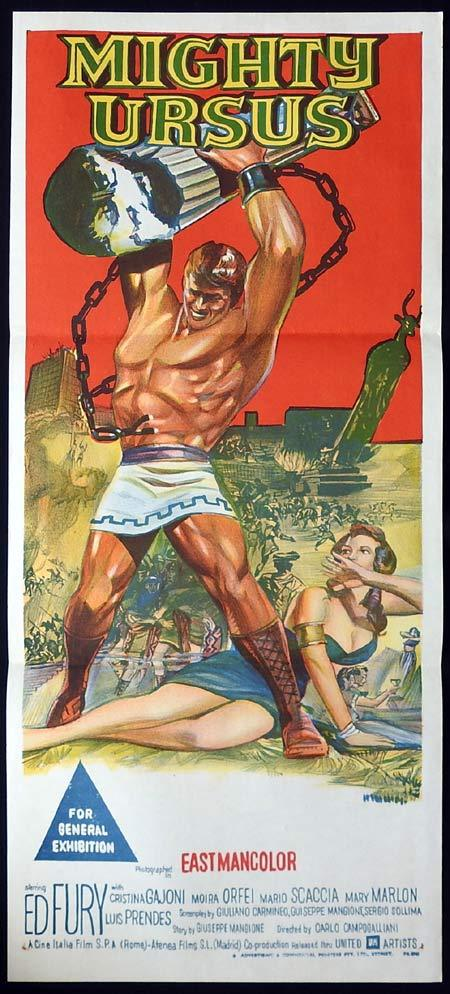 MIGHTY URSUS Original Daybill Movie Poster Steve Reeves Sword and Sandal