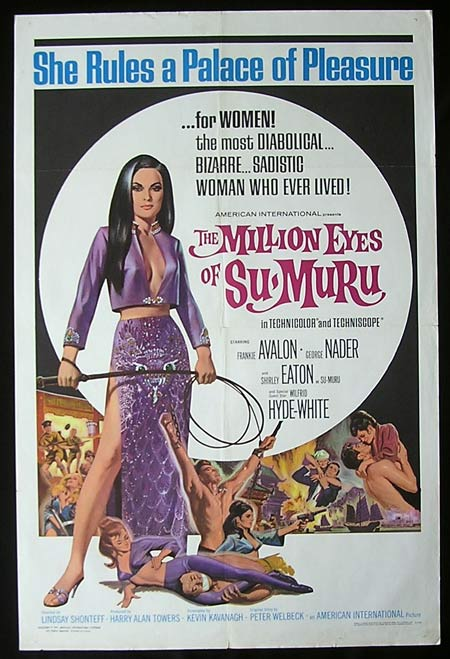 MILLION EYES OF SUMURU One sheet Movie poster Frankie Avalon