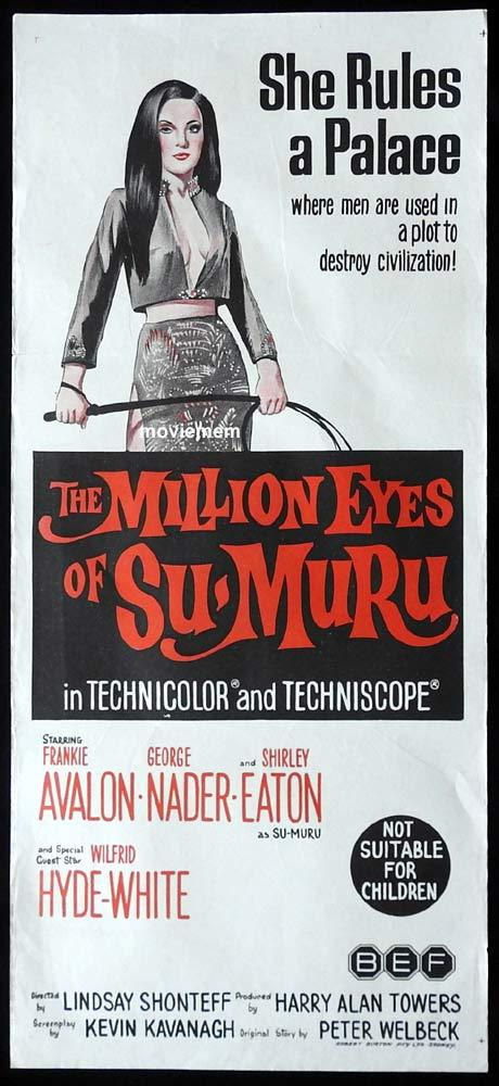 THE MILLION EYES OF SUMURU Original Daybill Movie Poster Frankie Avalon George Nader Shirley Eaton