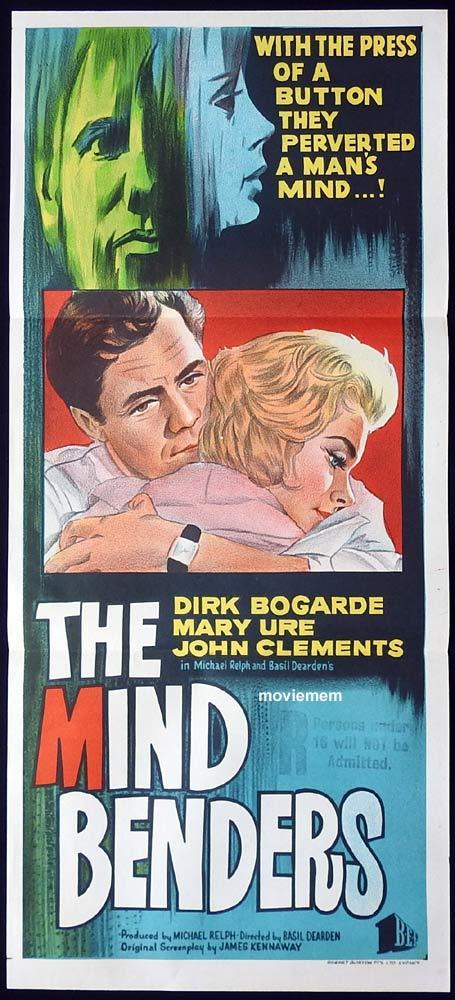 THE MIND BENDERS Original Daybill Movie poster Dirk Bogarde Mary Ure