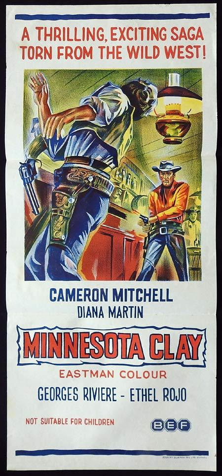 MINNESOTA CLAY Original Daybill Movie poster Cameron Mitchell Georges Rivière