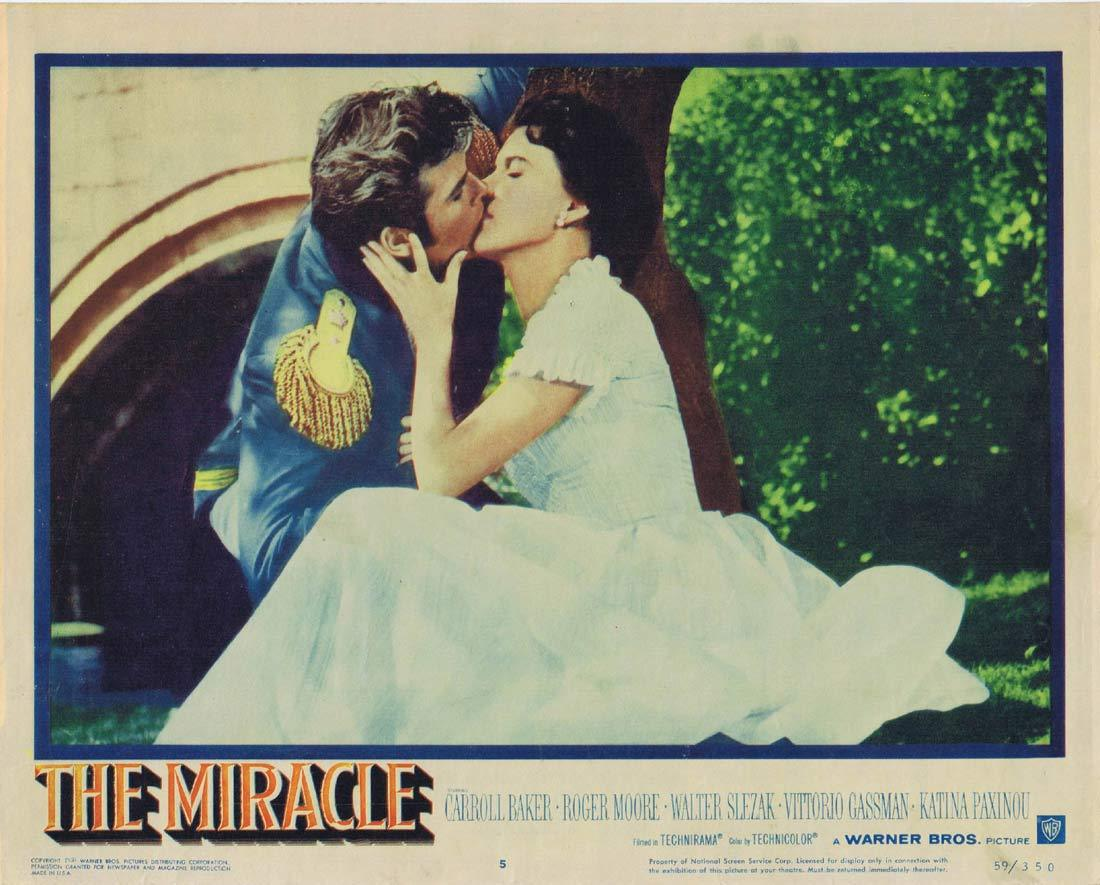 THE MIRACLE Original Lobby Card 5 Carroll Baker Roger Moore