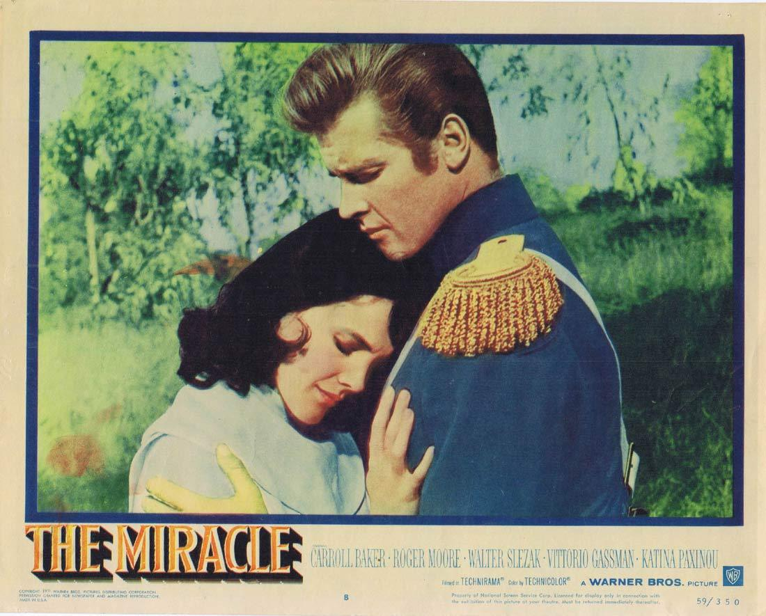 THE MIRACLE Original Lobby Card 8 Carroll Baker Roger Moore