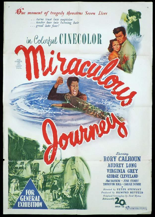 MIRACULOUS JOURNEY One sheet Movie poster Virginia Grey