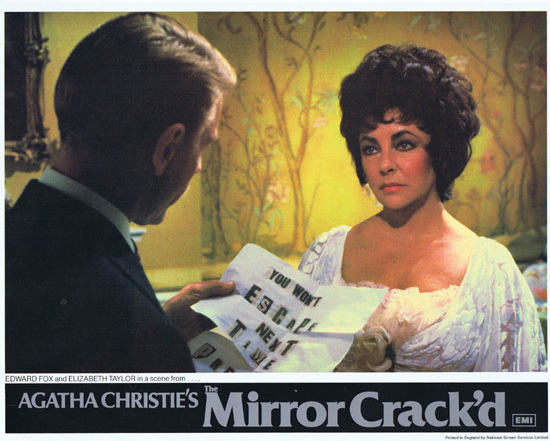 THE MIRROR CRACK'D Original Lobby Card 6 Joan Collins Elizabeth Taylor