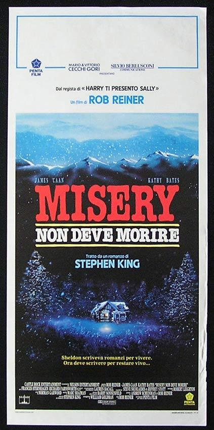 MISERY Italian Locandina Movie Poster Kathy Bates James Caan Stephen King
