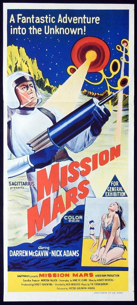 MISSION MARS Original Daybill Movie Poster Darren McGavin Nick Adams Sci Fi