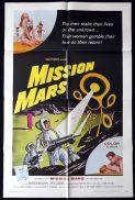 MISSION MARS Original US One sheet Movie Poster Sci Fi Darren McGavin