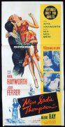 MISS SADIE THOMPSON Original Daybill Movie Poster Rita Hayworth José Ferrer Aldo Ray