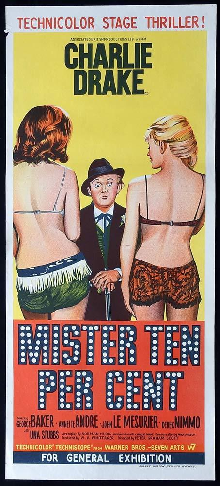 MISTER TEN PERCENT Original Daybill Movie Poster Charlie Drake Derek Nimmo