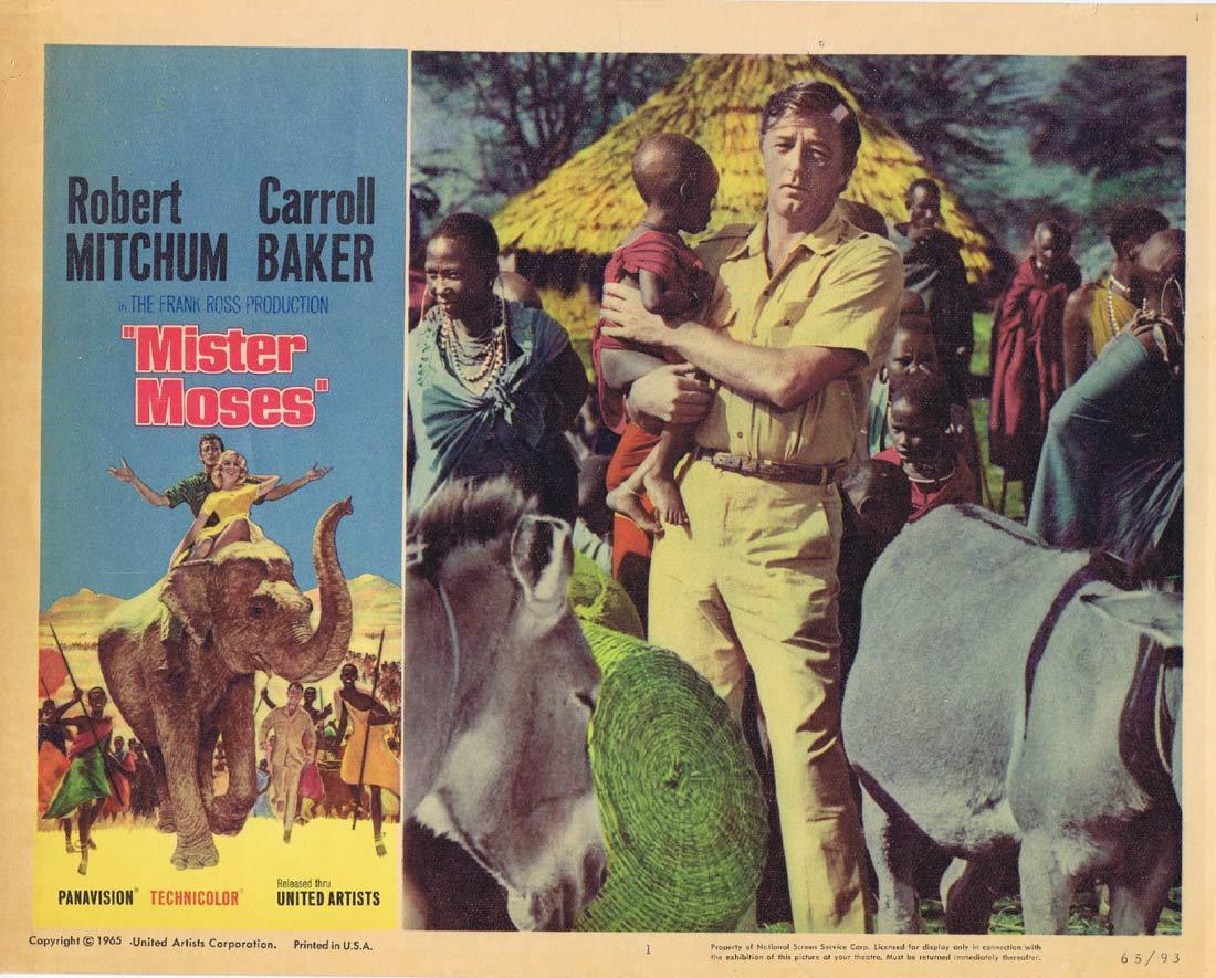 MISTER MOSES Lobby card 1 Robert Mitchum Carroll Baker