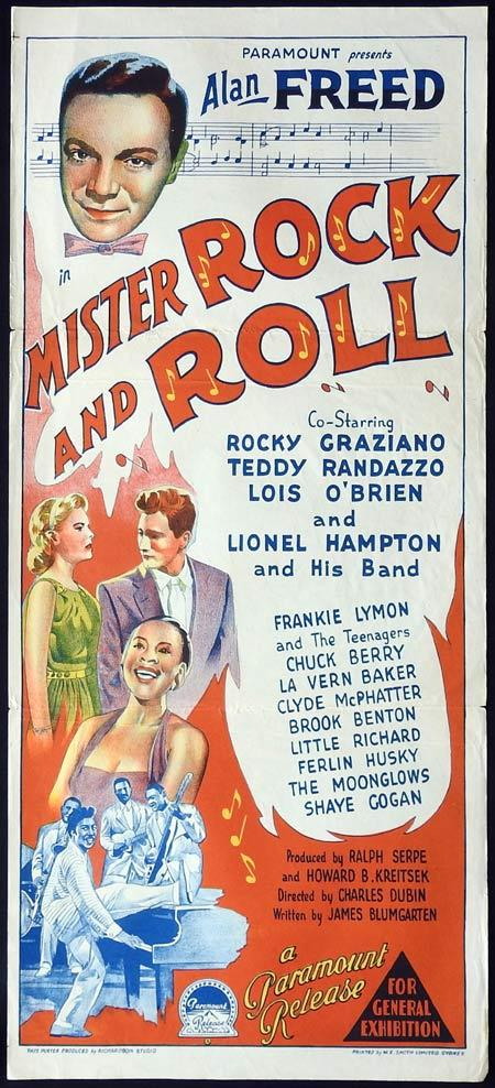 MISTER ROCK AND ROLL Original daybill Movie Poster Alan Freed Teddy Randazzo Lois O'Brien