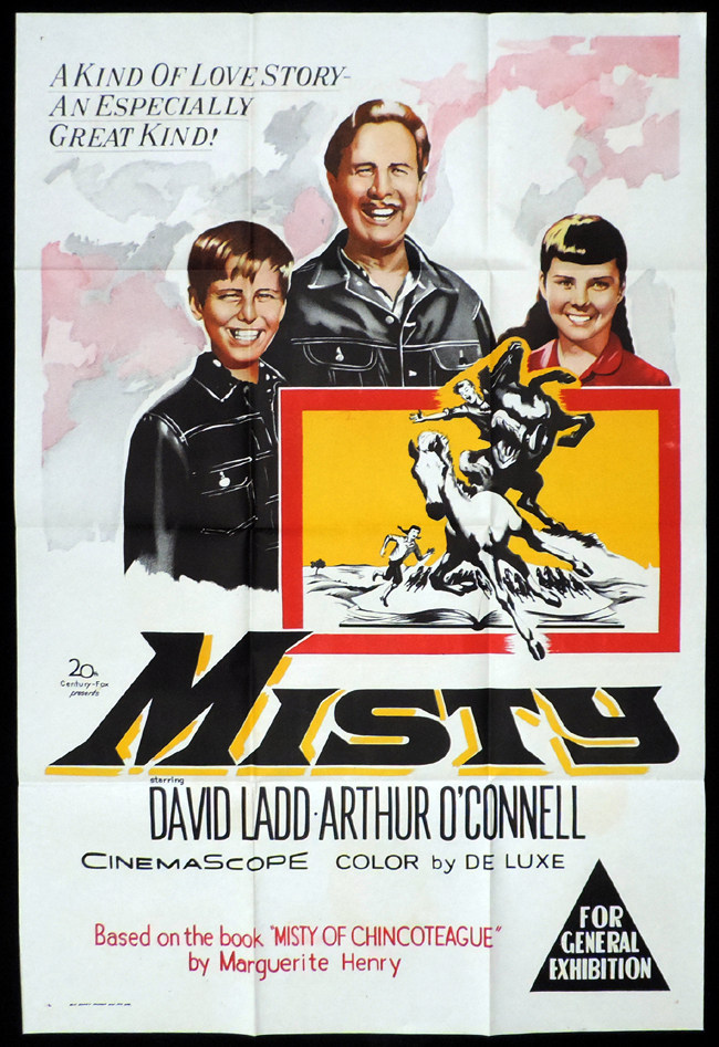 MISTY One Sheet Movie Poster David Ladd Arthur O'Connell