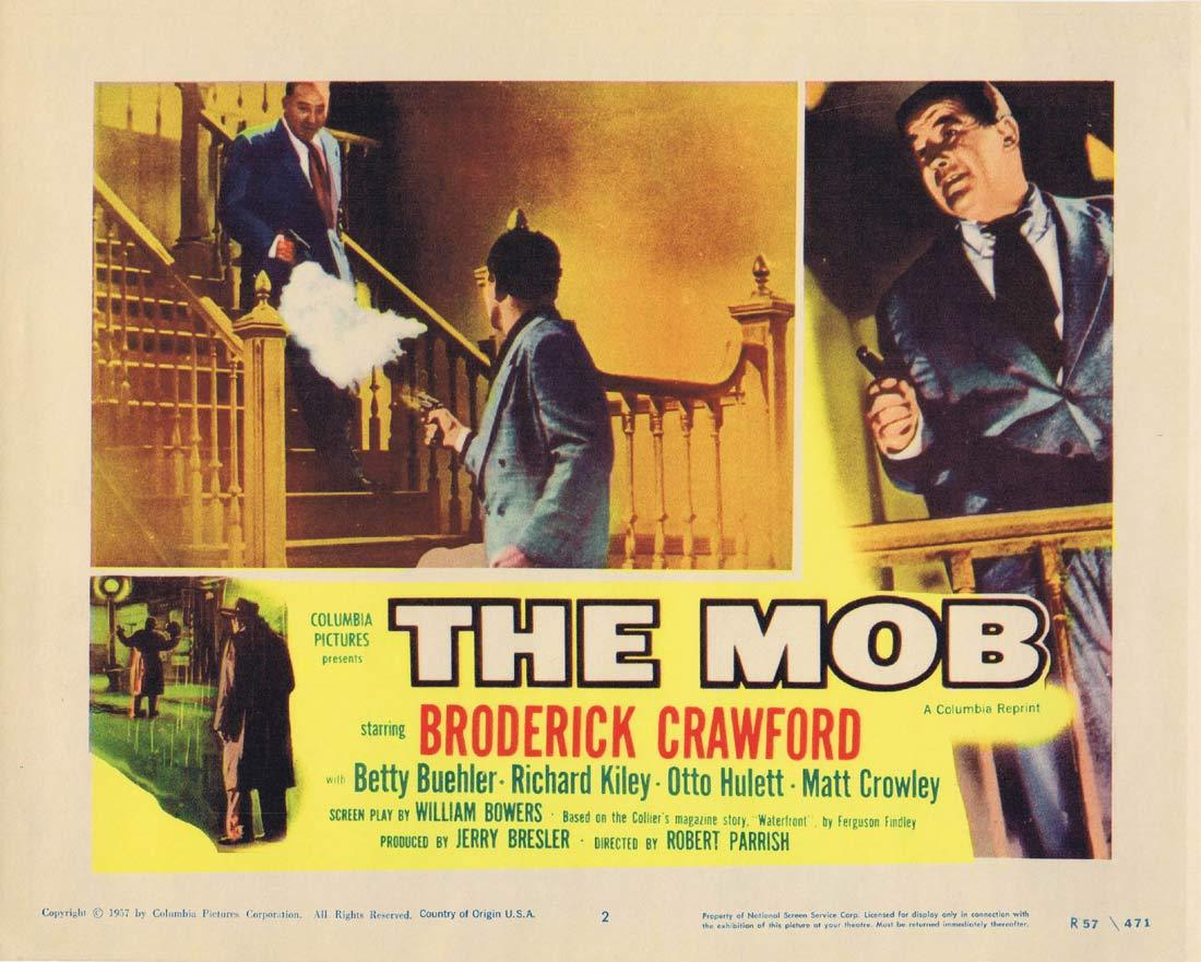 THE MOB Original Lobby Card 2 Broderick Crawford Betty Buehler