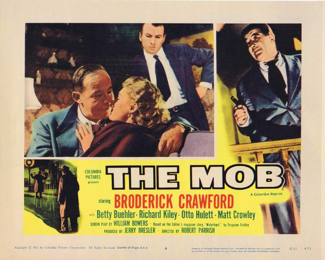 THE MOB Original Lobby Card 4 Broderick Crawford Betty Buehler
