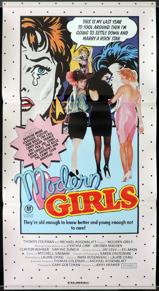 MODERN GIRLS Original Daybill Movie Poster Cynthia Gibb Virginia Madsen