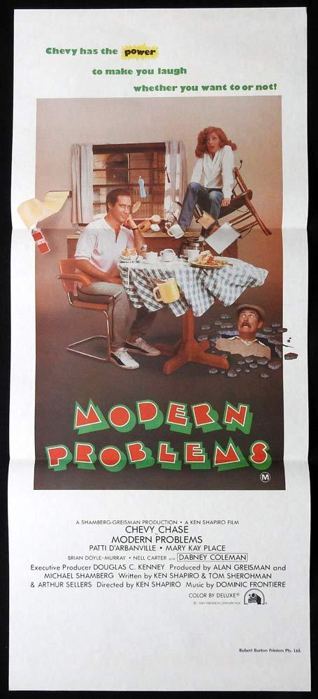 MODERN PROBLEMS Original Daybill Movie poster CHEVY CHASE Patt D'Arbanville