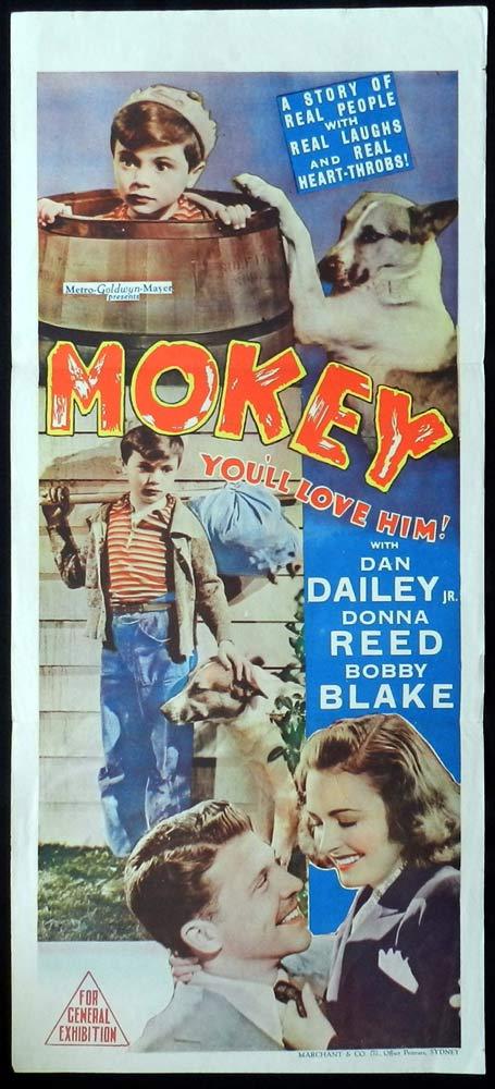 MOKEY Original Daybill Movie Poster Dan Dailey Donna Reed