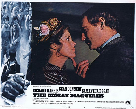 THE MOLLY MAGUIRES Lobby Card 1 1970 Sean Connery Richard Harris