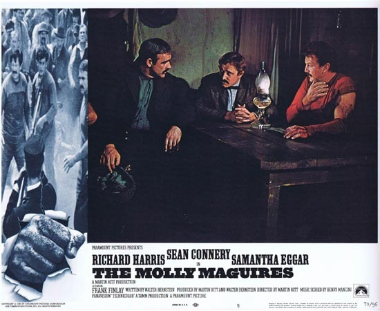 THE MOLLY MAGUIRES Lobby Card 5 1970 Sean Connery Richard Harris