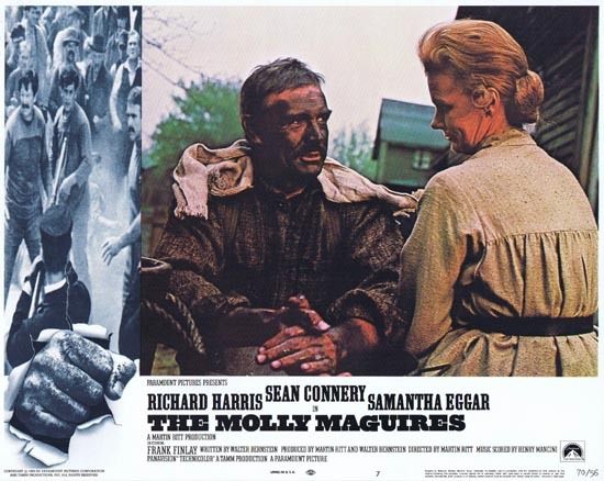 THE MOLLY MAGUIRES Lobby Card 7 1970 Sean Connery Richard Harris