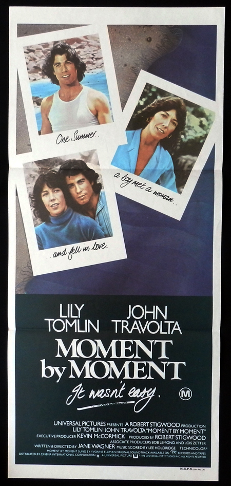 MOMENT BT MOMENT John Travolta Lily Tomlin VINTAGE Daybill Movie poster