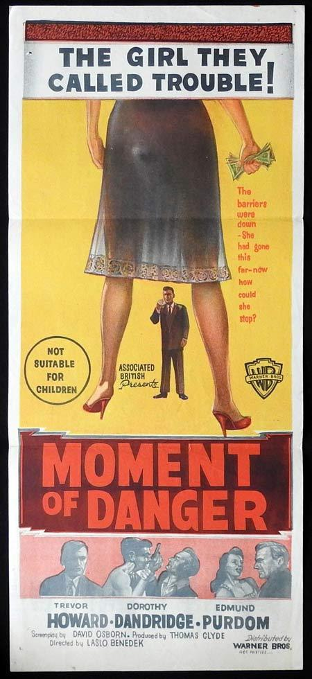 MOMENT OF DANGER Original Daybill Movie poster Trevor Howard Dorothy Dandridge