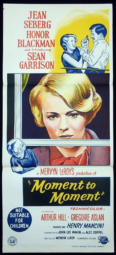 MOMENT TO MOMENT Movie Poster 1965 Jean Seberg Honor Blackman Australian Daybill