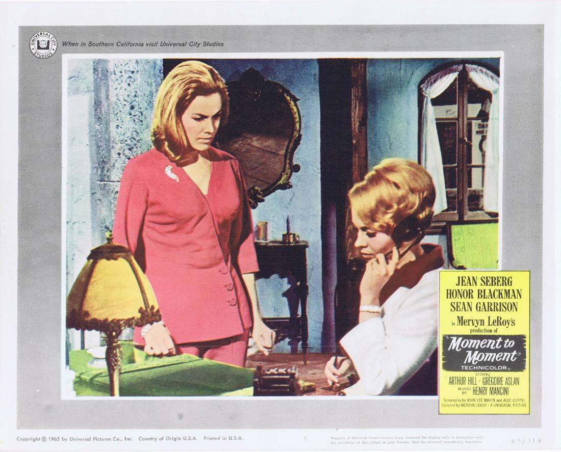 MOMENT TO MOMENT Lobby Card 5 Jean Seberg Honor Blackman Arthur Hill