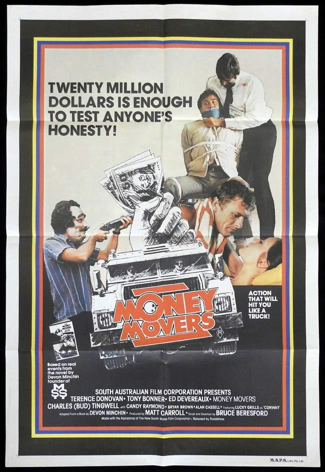 MONEY MOVERS One sheet Movie poster Bruce Beresford Terence Donovan
