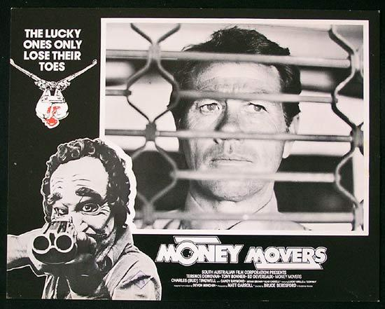 MONEY MOVERS 1978 Bruce Beresford RARE Lobby Card 2