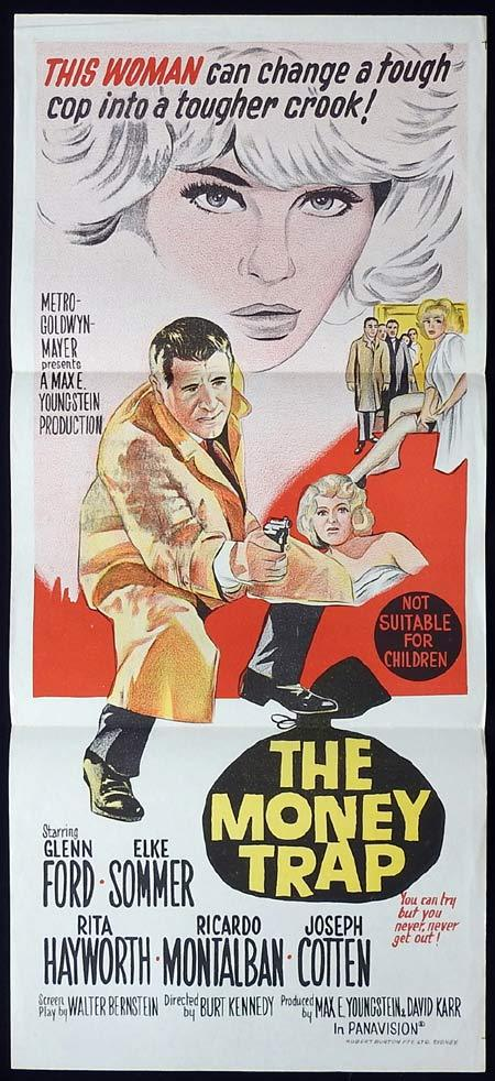 THE MONEY TRAP Original Daybill Movie Poster Glenn Ford Elke Sommer