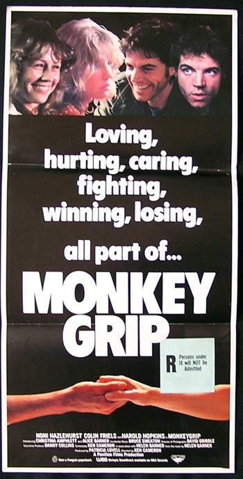 MONKEY GRIP Original Daybill Movie poster Noni Hazlehurst Colin Friels
