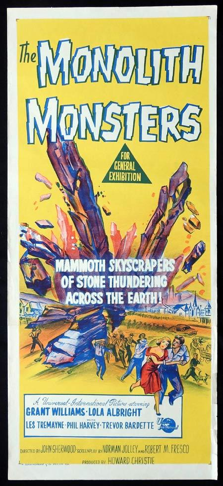THE MONOLITH MONSTERS Original Daybill Movie Poster SCI FI Grant Williams Lola Albright