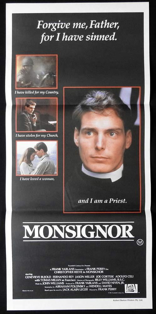 MONSIGNOR Original Daybill Movie poster CHRISTOPHER REEVE Genevieve Bujold