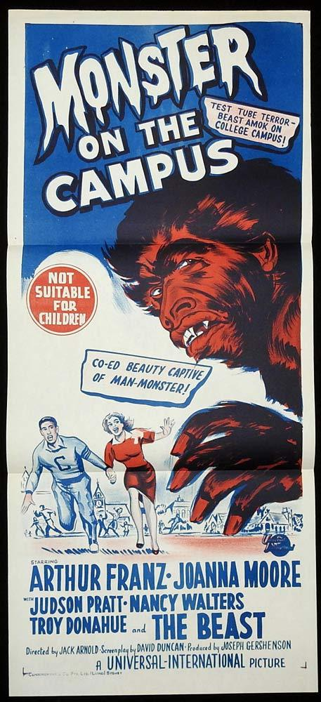MONSTER ON THE CAMPUS Original Daybill Movie poster Arthur Franz Sci Fi
