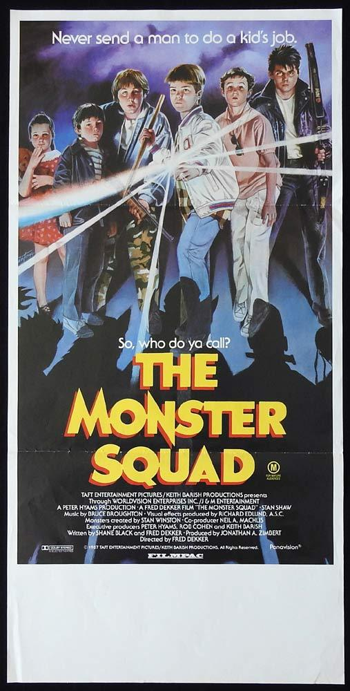 THE MONSTER SQUAD Original Daybill Movie Poster Andre Gower Dracula