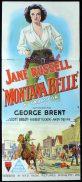 MONTANA BELLE Original Daybill Movie Poster RKO Jane Russell