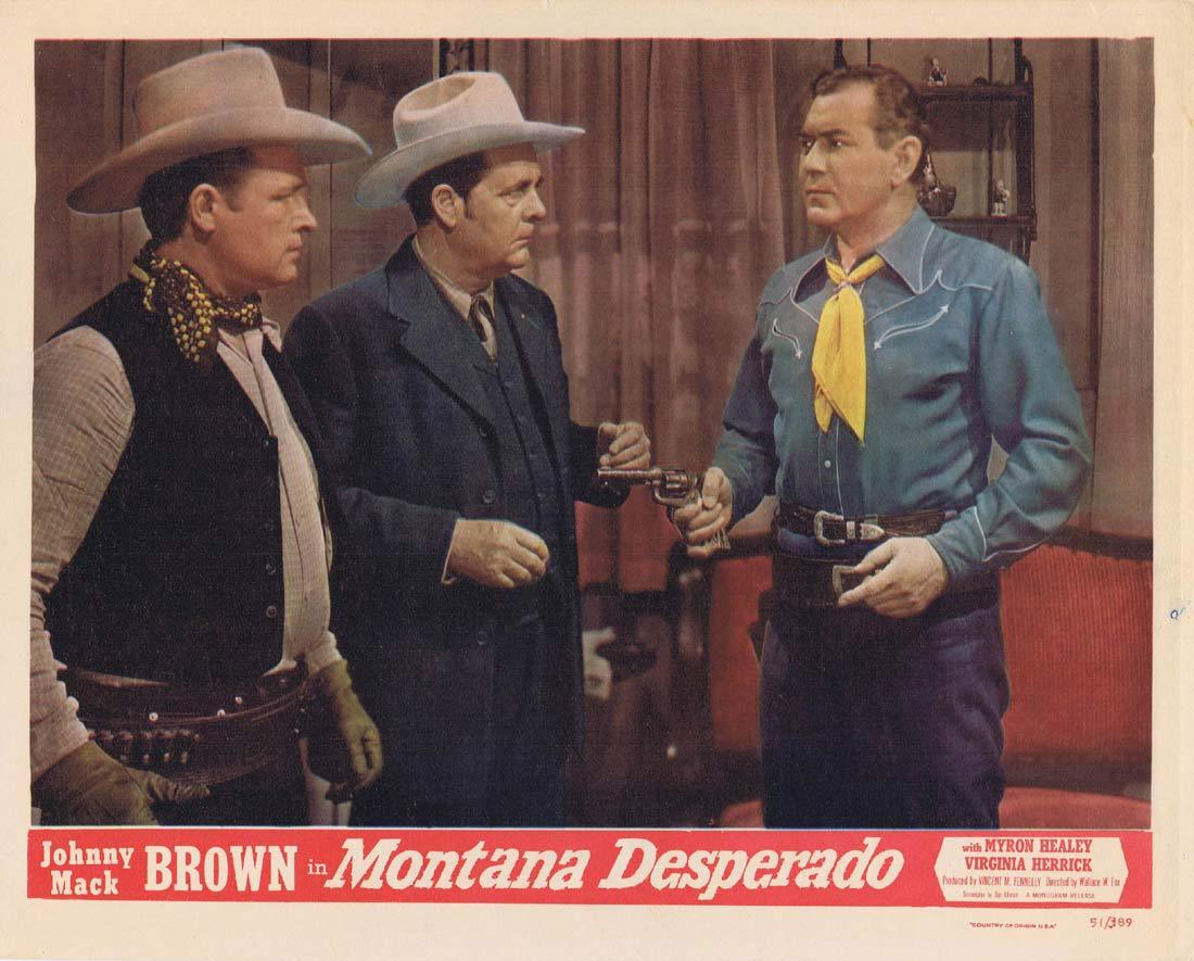 MONTANA DESPERADO Original Lobby Card Johnny Mack Brown Myron Healey Western