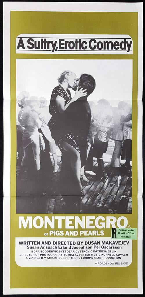 MONTENEGRO Daybill Movie poster Pigs and Pearls Susan Anspach
