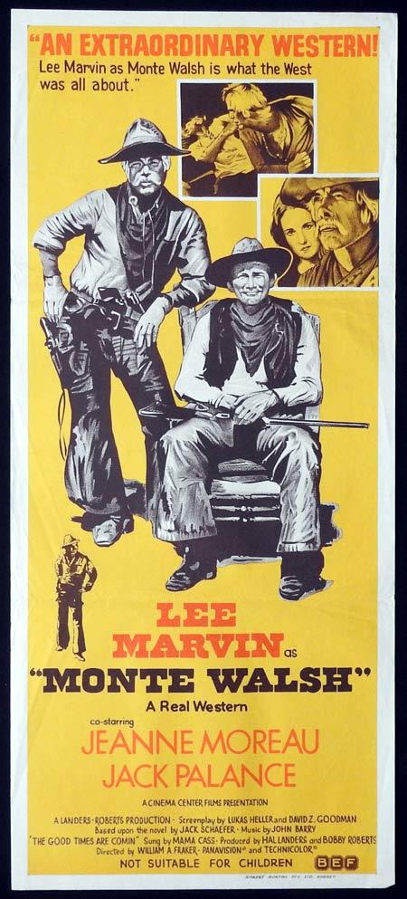 MONTE WALSH Original Daybill Movie Poster Lee Marvin Jeanne Moreau Jack Palance