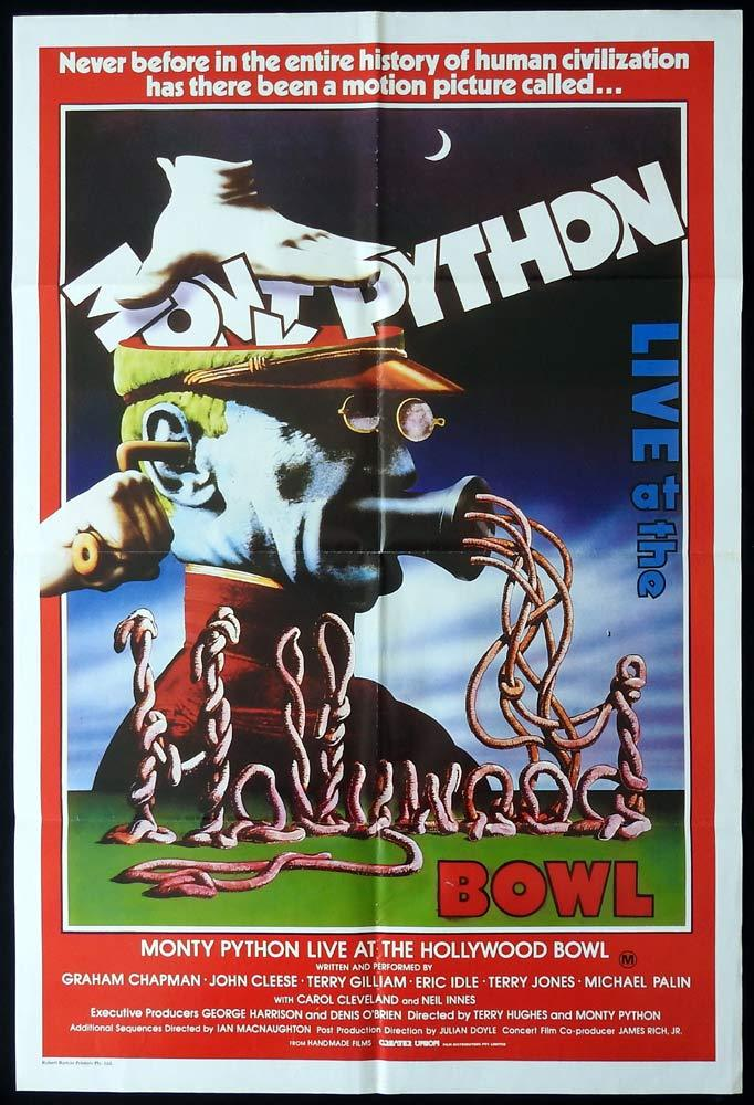 MONTY PYTHON LIVE AT THE HOLLYWOOD BOWL Original One sheet Movie poster