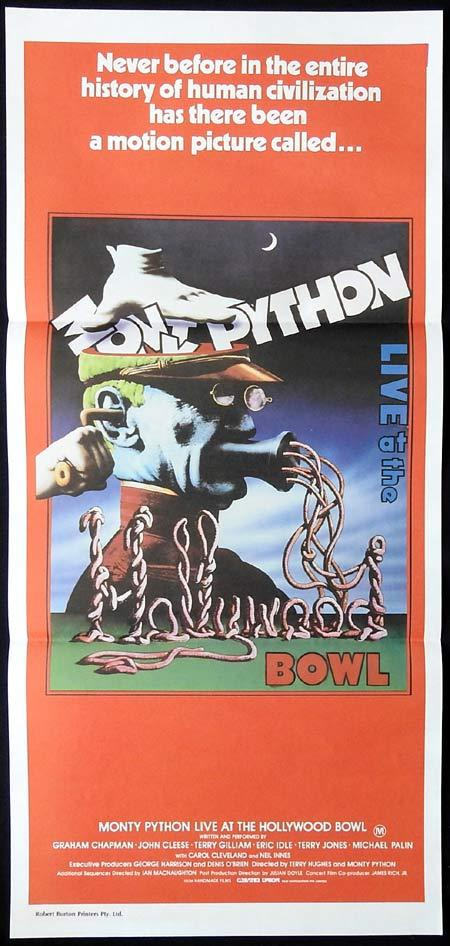 MONTY PYTHON LIVE AT THE HOLLYWOOD BOWL Original daybill Movie Poster Graham Chapman John Cleese