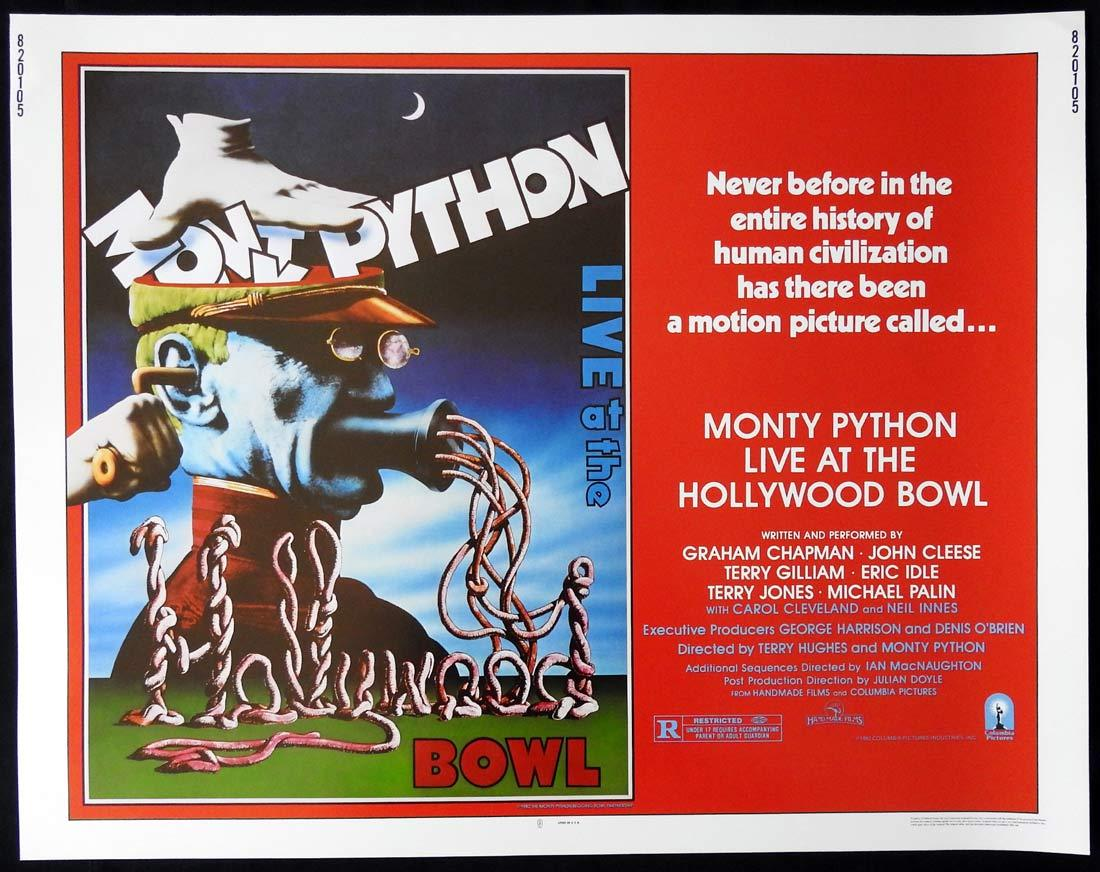 MONTY PYTHON LIVE AT THE HOLLYWOOD BOWL US Half sheet Movie poster