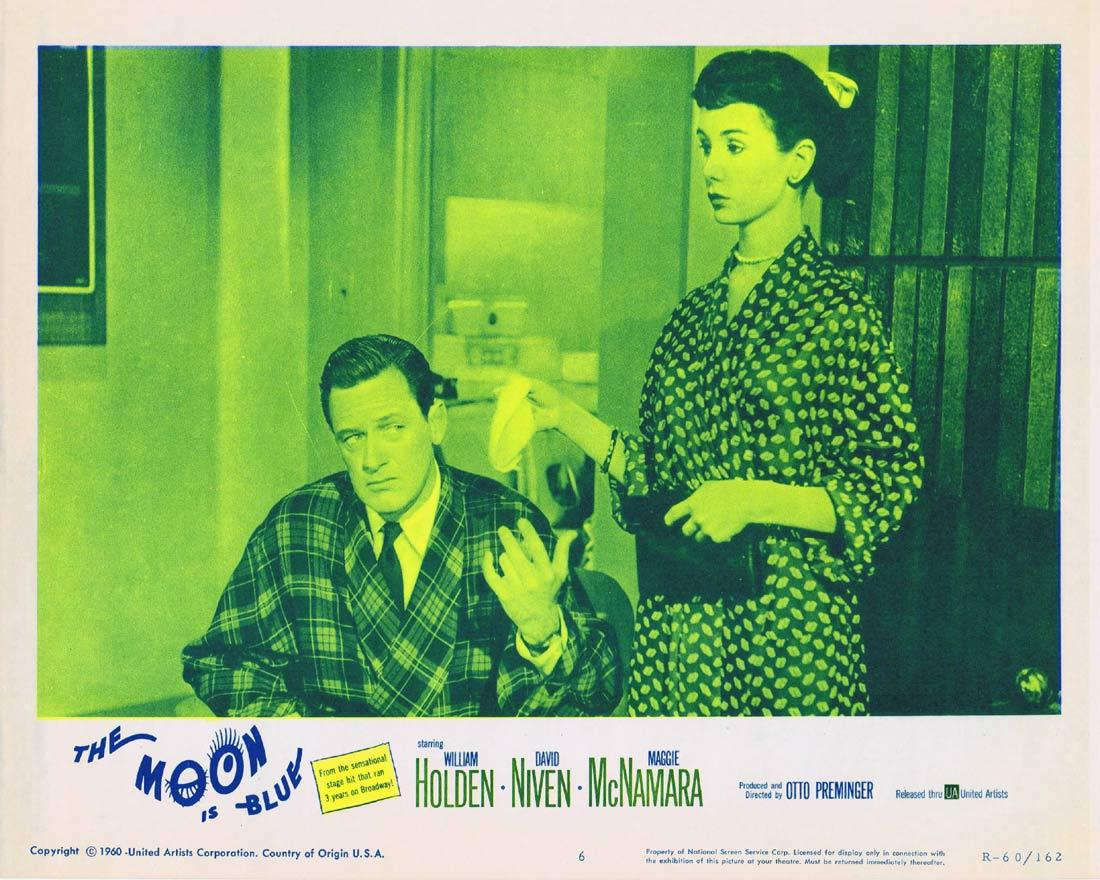 THE MOON IS BLUE Lobby Card 6 William Holden David Niven 1960r