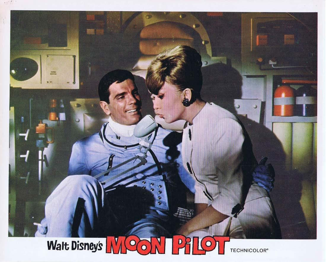 MOON PILOT Original Lobby Card Tom Tryon Disney Brian Keith
