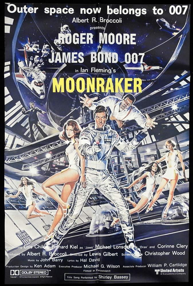 MOONRAKER Original AU One sheet Movie poster