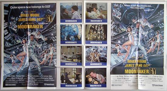 MOONRAKER 1979 James Bond VERY RARE 1 STOP US Movie poster